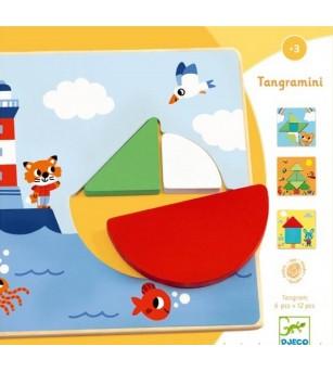 Tangramini, joc educativ Djeco - Jucării logică