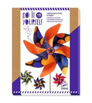 Set DIY Djeco, moristi de vant, buline colorate - Lucru manual