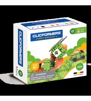 Set de construit Clicformers - Craft verde, 25 de piese - Jocuri construcție