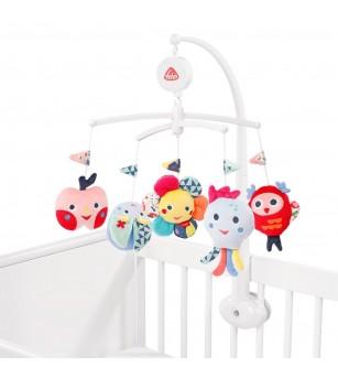 Carusel muzical mobil - Prietenii culorilor - Jucării bebeluși