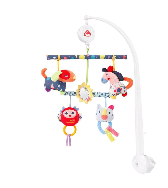 Carusel muzical mobil cu activitati - Prietenii culorilor - Jucării bebeluși