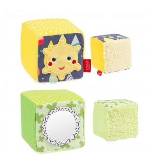 Set 4 cuburi - Prietenii culorilor - Jucării bebeluși