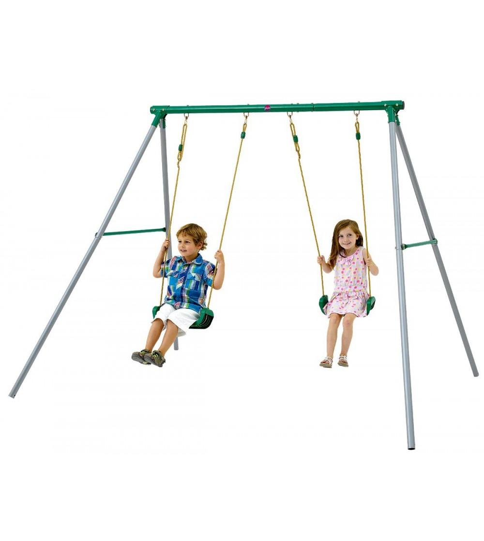 Complex leagane pentru 2 copii, Sedna II Plum - Locuri de joacă