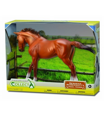 Figurina Collecta in cutie, Iapa Thoroughbred Chestnut - Figurine