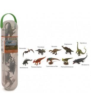 Cutie cu 10 minifigurine Collecta - Dinozauri set 1 - Figurine