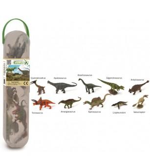 Cutie cu 10 minifigurine Collecta - Dinozauri set 2 - Figurine
