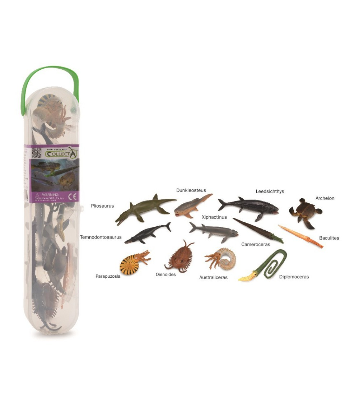Cutie cu 12 minifigurine Collecta - Animale marine preistorice - Figurine