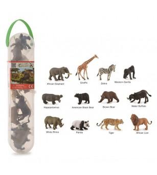 Cutie cu 12 minifigurine Collecta - Animale salbatice - Figurine