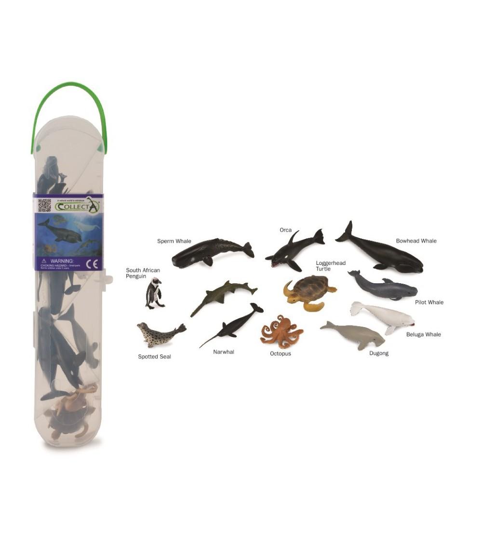 Cutie cu 12 minifigurine Collecta - Animale marine Set 2 - Figurine