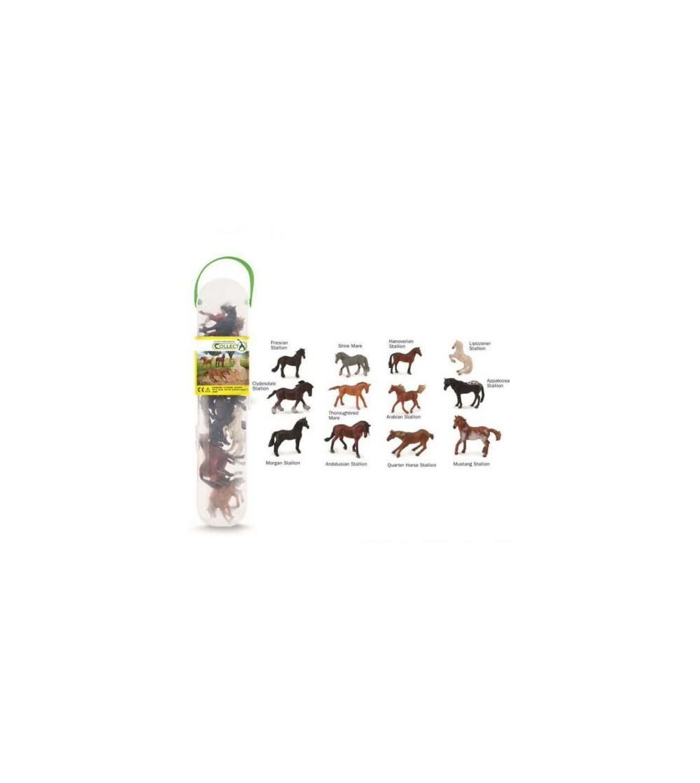 Cutie cu 12 minifigurine Collecta - Caluti - Figurine