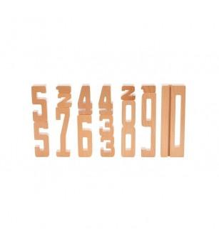Set cifre din lemn proportionale de la 1 la 10, 15 piese, byAstrup - Jucării matematică
