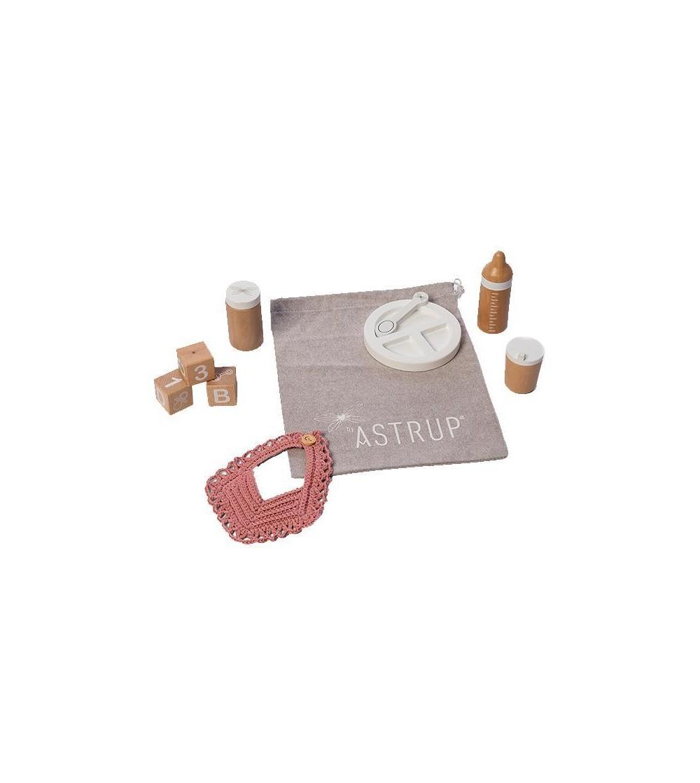 Set hranire papusi, 9 piese inclusiv un saculet, byAstrup - Căsuțe de păpuși și accesorii