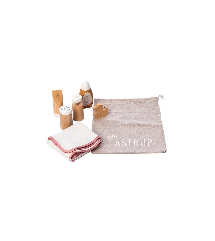 Set ingrijire igienica papusi, 7 piese inclusiv un saculet, byAstrup - Căsuțe de păpuși și accesorii