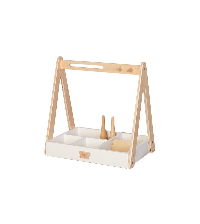 Dulapiorul cosmetic al fetitelor, din lemn, cu raft organizat, byAstrup - Organizare