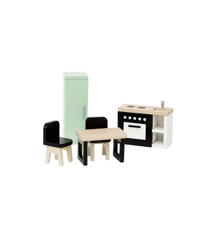 Mobilier casuta papusi din lemn, bucatarie, byAstrup - Căsuțe de păpuși și accesorii