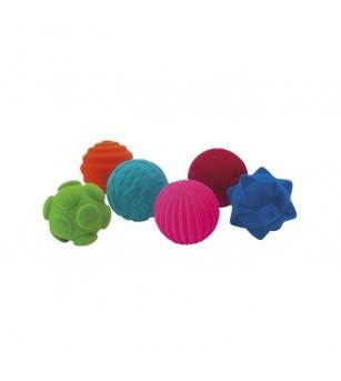 Set 6 mingiute colorate tactile din cauciuc natural, Rubbabu - Jucării și accesorii sportive