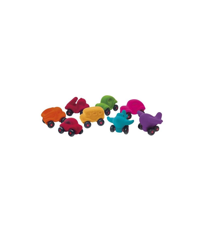 Set asortat 8 vehicule cauciuc natural M2, Rubbabu - Vehicule de jucărie