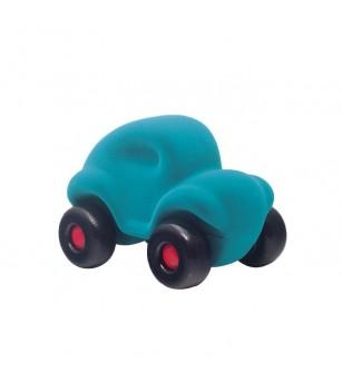 Jucarie cauciuc natural Masinuta, turquoise, Rubbabu - Vehicule de jucărie