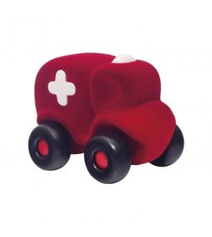 Jucarie cauciuc natural Ambulanta, rosie, Rubbabu - Vehicule de jucărie