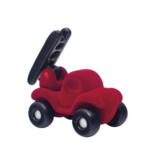 Jucarie cauciuc natural Masina pompierilor, rosie, Rubbabu - Vehicule de jucărie