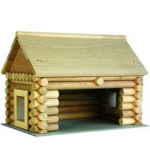 Set constructie arhitectura Vario Massive Mini, 91 piese mari din lemn, Walachia - Jocuri construcție