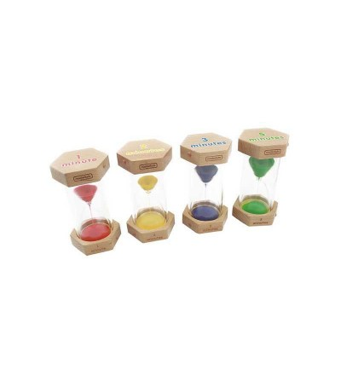 Set clepsidre din lemn si plastic transparent, Masterkidz - Ceas și calendar