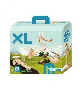 Set cuburi de constructie din lemn Explorer XL, Matador - Jocuri construcție