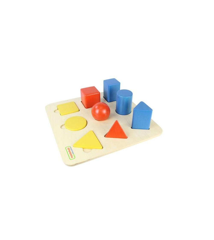 Set educativ forme si corpuri geometrice, din lemn, Masterkidz - Jucării de lemn si Montessori