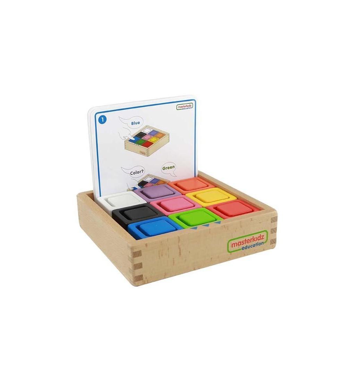 Set educativ cuburi si patrate-recipient, din lemn, Masterkidz - Jucării de lemn si Montessori