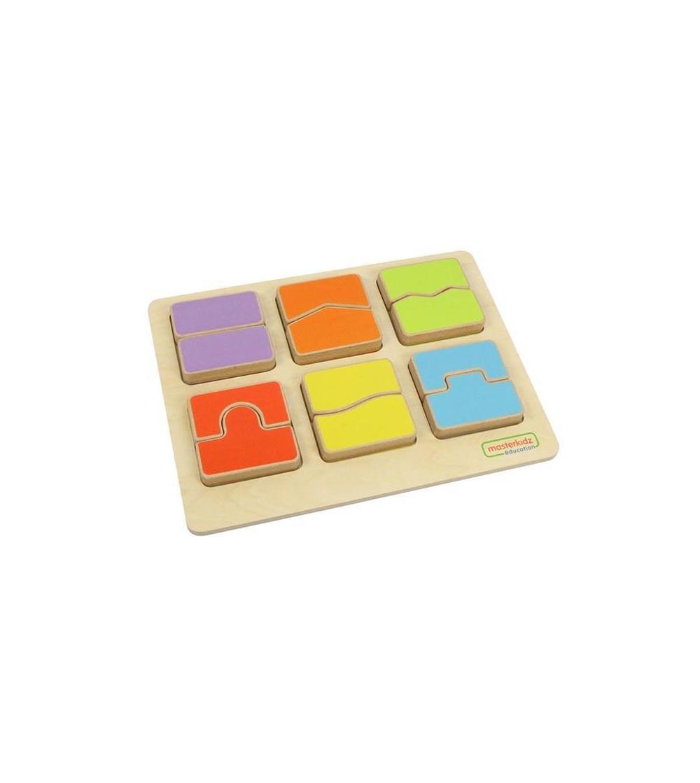 Puzzle sortator forme si culori, din lemn, Masterkidz - Jucării de lemn si Montessori