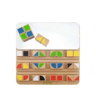 Joc educativ Cuburi in oglinda, din lemn, Masterkidz - Jucării logică