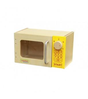 Cuptor cu microunde de jucarie, din lemn, Masterkidz - Bucătărie copii