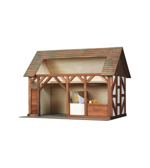 Set constructie arhitectura Grajdul animalelor, 154 piese din lemn, Walachia - Jocuri construcție