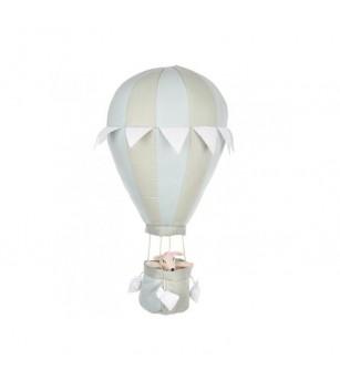 Balon cu aer cald verde menta, pentru decoratiuni 24x50 cm din bumbac umplut cu poliester, byAstrup - Decorațiuni