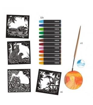 Atelier creativ cu creioane acuarela Djeco, Lumina din fundal - Desen și pictură
