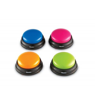 Buzzers (cu sunete pentru raspuns) - set 4 buc - Jocuri STEM