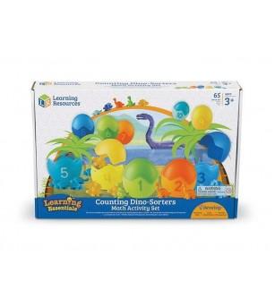 Set pentru sortat si numarat - Dinozauri colorati - Jucării matematică
