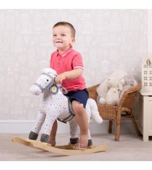 Calut balansoar din lemn - Jucării de lemn si Montessori