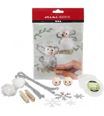 Mini kit DIY ornamente Craciun - Ingeras 2 bc - Lucru manual