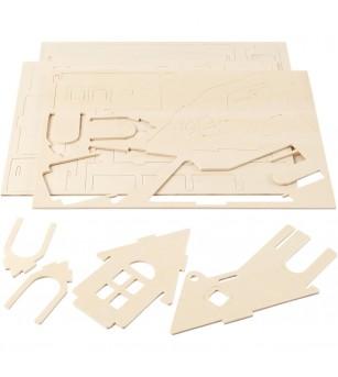 Kit asamblare - Casuta cu rampa - Crafturi