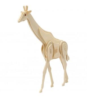 Kit 3D din placaj de lemn - Girafa - Crafturi