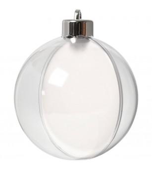 Set 5 globuri transparente pentru decorat, 8 cm - Crafturi