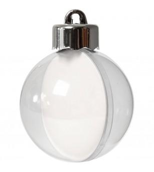 Set 10 globuri transparente pentru decorat, 5 cm - Crafturi