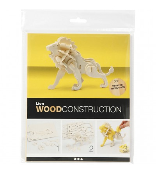 Kit 3D din placaj de lemn - Leu - Crafturi