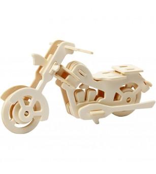Kit 3D din placaj de lemn - Motocicleta - Crafturi