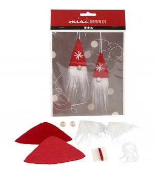 Mini kit DIY Ornamente Craciun pentru bradut - Gnome - Crafturi