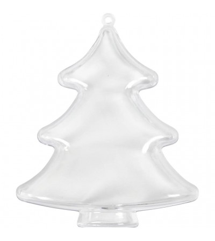 Set 5 ornamente transparente pentru decorat, braduti - Crafturi
