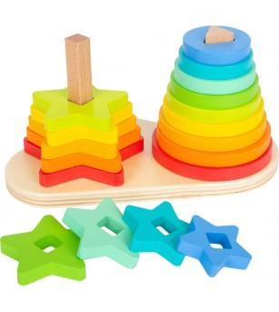 Joc de sortare Legler Small Foot, Curcubeu - Jucării de lemn si Montessori