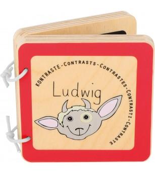 Carte din lemn Legler Small Foot, Contraste - Jucării bebeluși