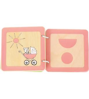 Carte din lemn Legler Small Foot, Forme - Jucării bebeluși